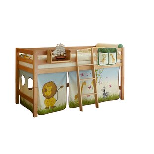 Elaine European Single Mid Sleeper Bed With Textile Set By Zoomie Kids