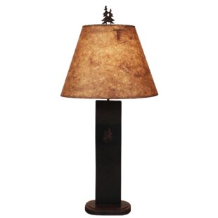 Brianna Double Pine Tree Panel 29 Table Lamp
