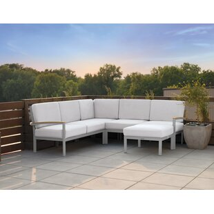 Latitude Run Travira Sectional with Cushions