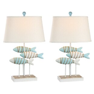 Resendez Fish Coastal 29 Table Lamp (Set of 2)
