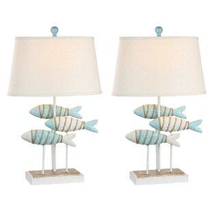 Resendez Fish Coastal 29 Table Lamp (Set Of 2) by Breakwater Bay Wonderful