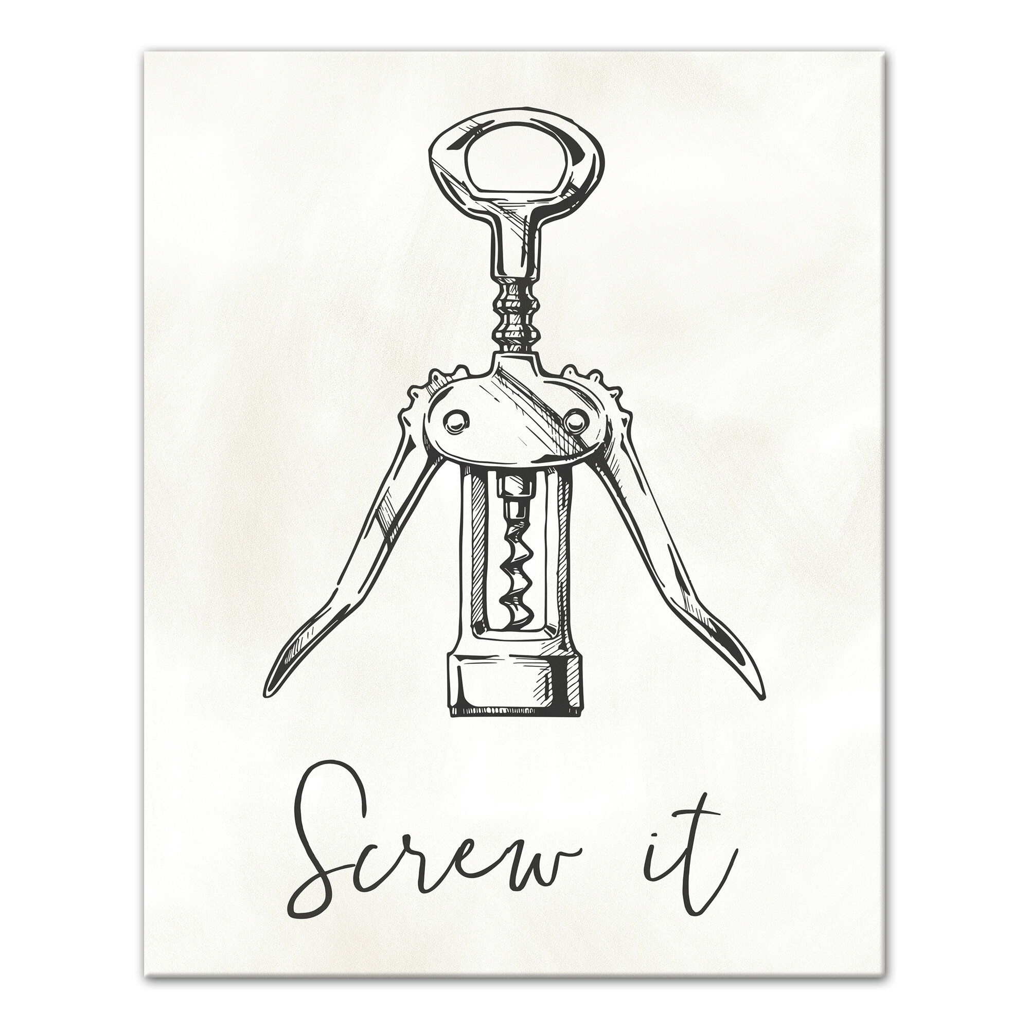 Williston Forge Screw It Wine Bottle Opener Graphic Art Print On