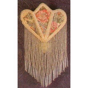Meyda Tiffany Floral Fabric with Fringe Night Light