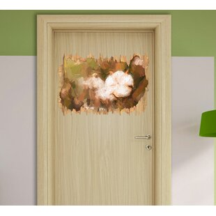 Mature Bud Full Of Cotton Wall Sticker By East Urban Home