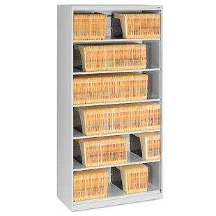 Open Fixed 6-Shelf Vertical Filing Cabinet