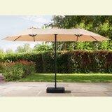 Clarita 7 x 15 Rectangular Market Umbrella