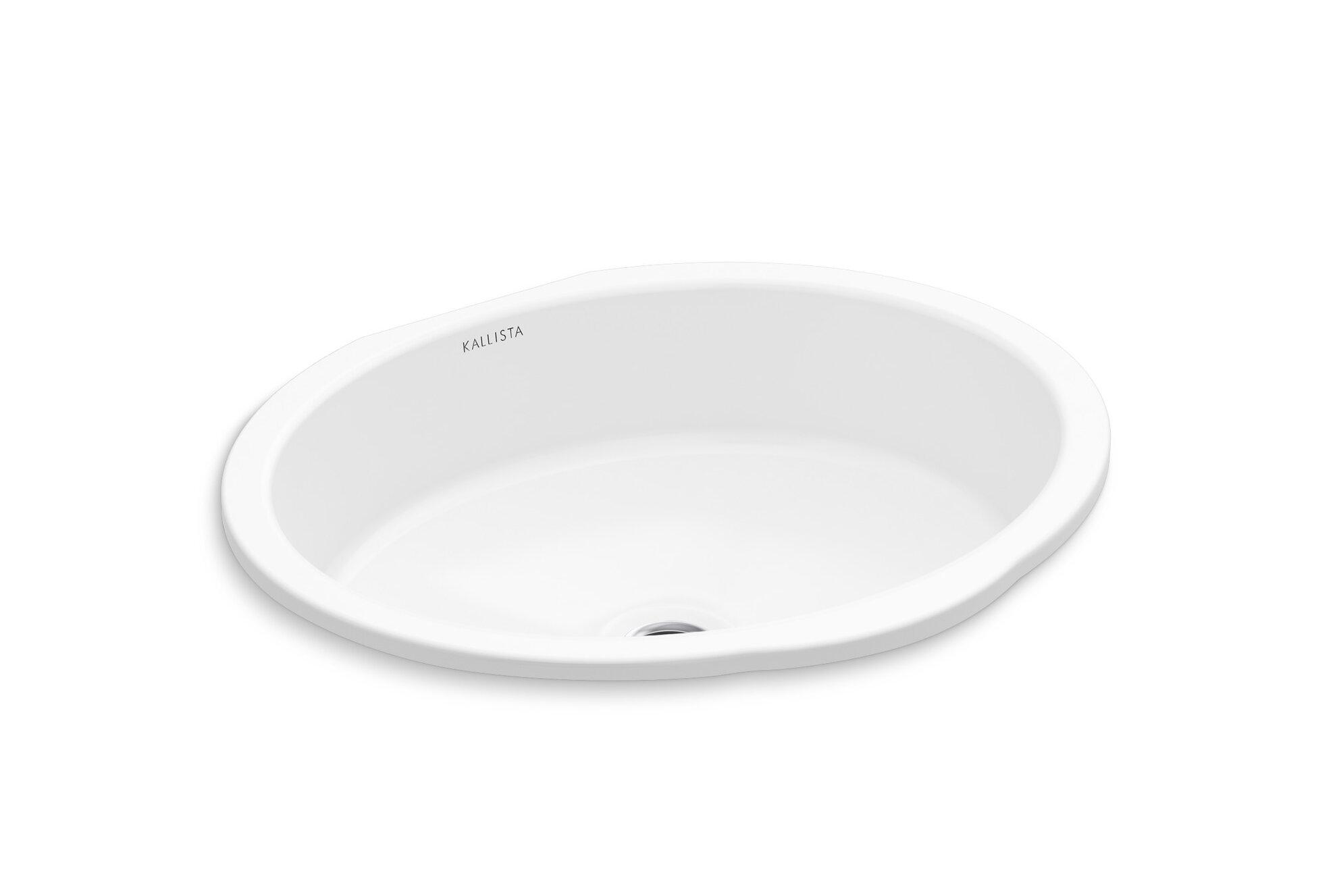 Kallista Perfect Centric Oval Undermount Bathroom Sink with Overflow ...