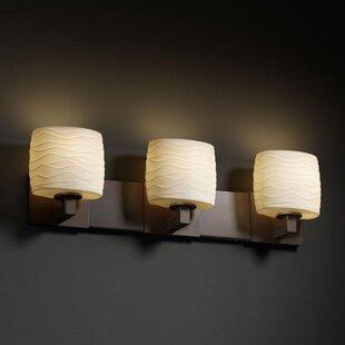 World Menagerie Bismark Oval Shade 3-Light Vanity Light