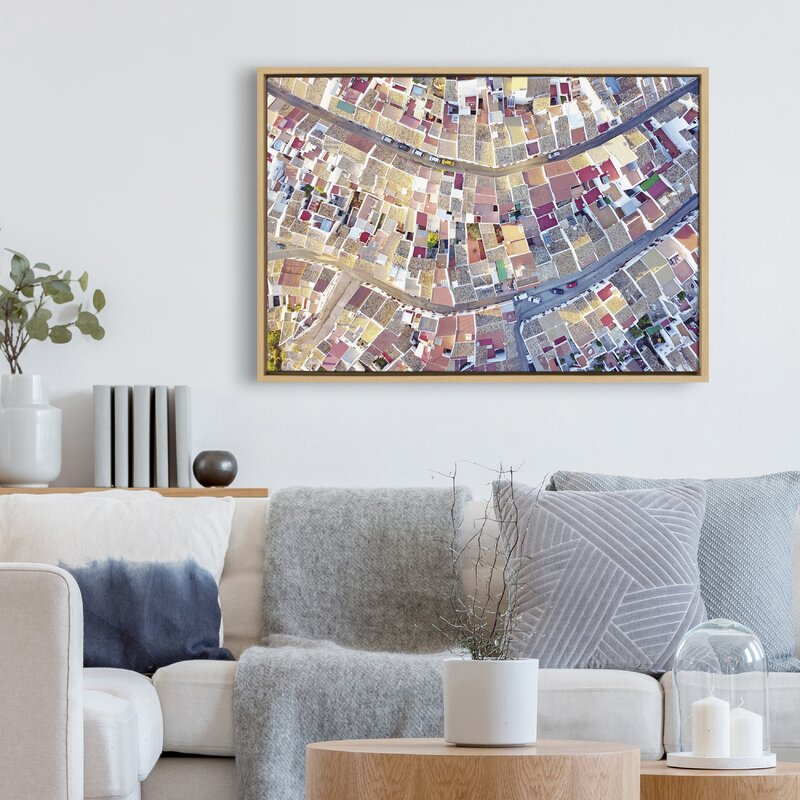 'Spain 4' by Rachel Dowd - Floater Frame Painting Print on Canvas