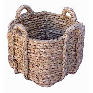 Square Rush Wicker/Rattan Basket By August Grove