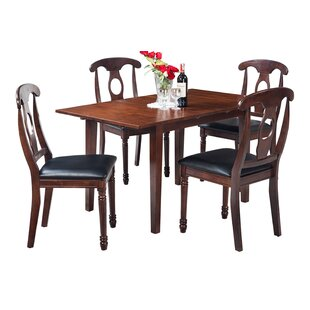 Assante 5 Piece Solid Wood Dining Set Alcott Hill
