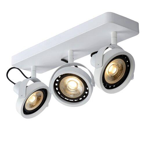 3-Light 12cm Ceiling Spotlight Lucide Fixture Finish: White