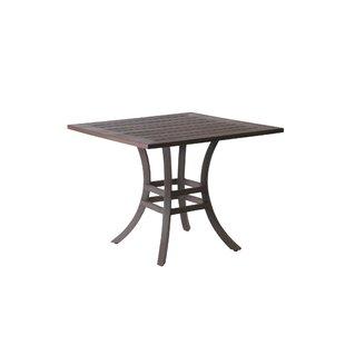 Summer Classics Resort Square Wrought Aluminum Bistro Table
