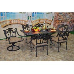 Bayou Breeze Maccharles 7 Piece Sunbrella Dining Set with Cushions