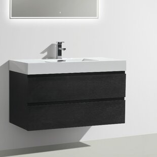 Check Prices Leni 39 Wall-Mounted Single Bathroom Vanity Set By Orren Ellis