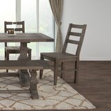 Dumfries Ladder Back Side Chair in Rustic Taupe (Set of 2) by Gracie Oaks