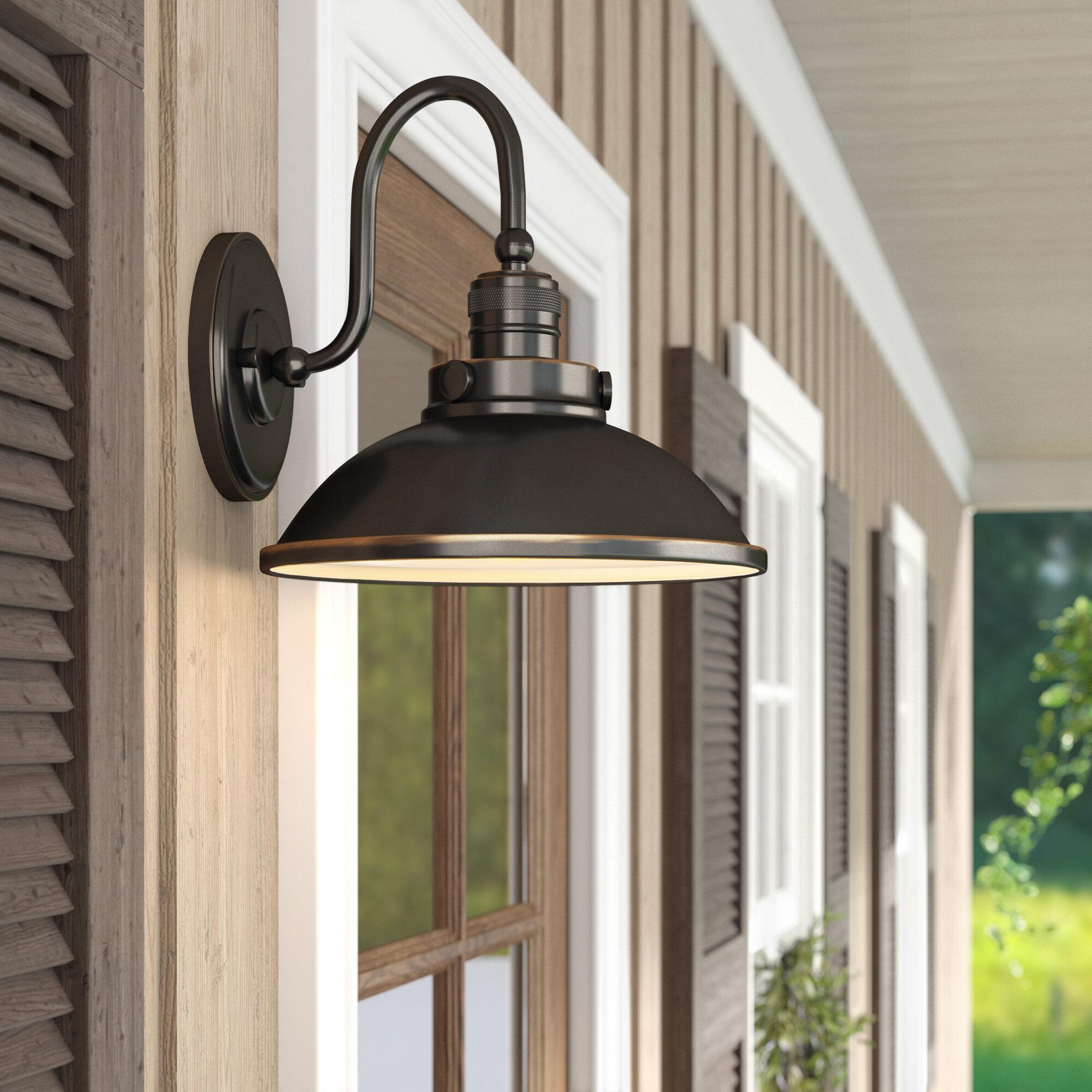 Laurel Foundry Modern Farmhouse Fannie Led Outdoor Barn Light Reviews