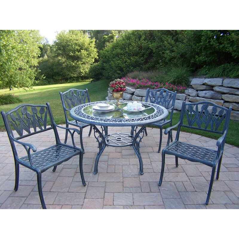 Astoria Grand Mcgrady Tulip 5 Piece Dining Set Wayfair