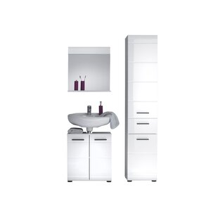 Chance 3 Piece Bathroom Furniture Set With Mirror By Wade Logan