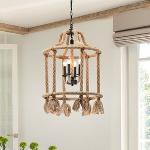 Gracie Oaks Eastlake 4-Light Lantern Pendant