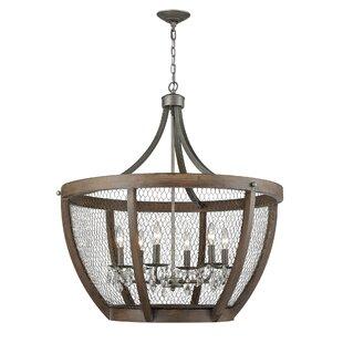 Gracie Oaks Shaili Basket 6-Light Pendant