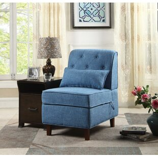 Charlton Home Erastus Storage Slipper Chair with Ottoman