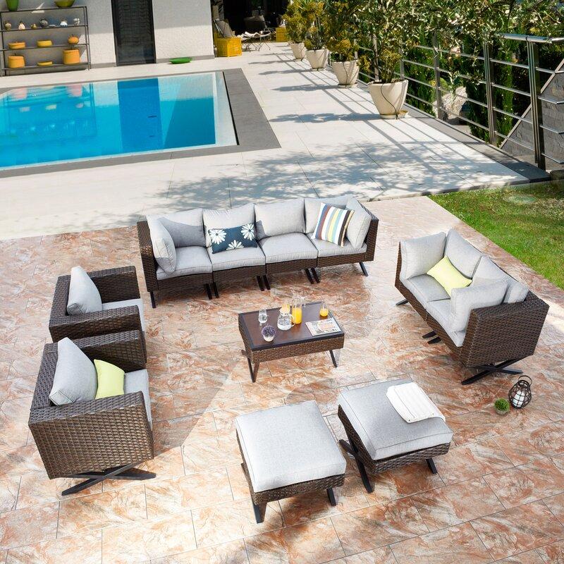 Latitude Run Rimersburg 11 Piece Sofa Seating Group with Cushions