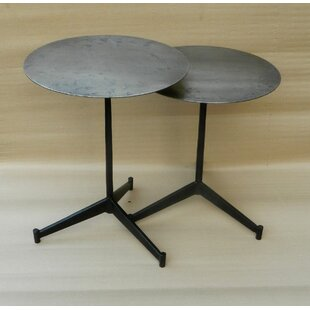 Croxton Iron Round End Table (Set of 2)