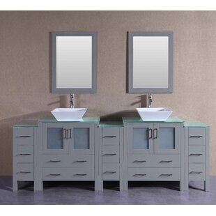 Chelsea 96 Double Bathroom Vanity Set with Mirror by Bosconi