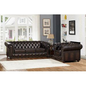 Katharine Leather 2 Piece Living Room Set by..