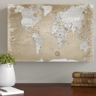 World map wayfair world map horizon photographic print on canvas by lanakk gumiabroncs Gallery