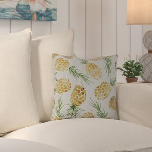 Thirlby Tossed Pineapples Outdoor Throw Pillow by Beachcrest Home