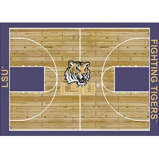 Best Price NCAA College Home Court LSU Novelty Rug By My Team by Milliken