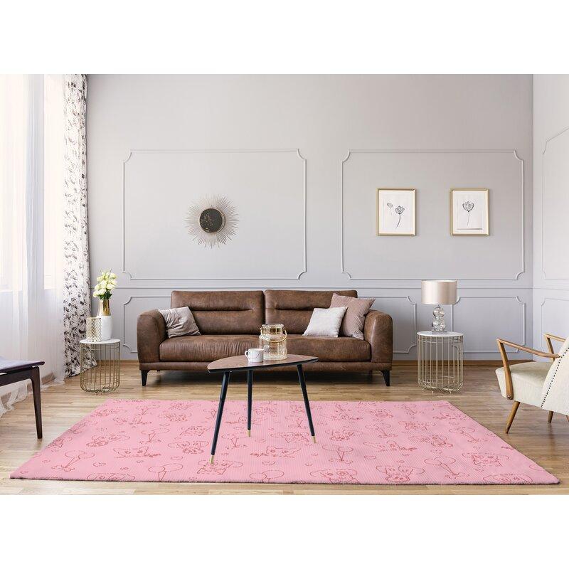 East Urban Home Handmade Pink Area Rug Wayfair