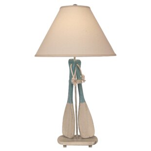 Elmsford 2-Paddles with White Rope 31 Table Lamp