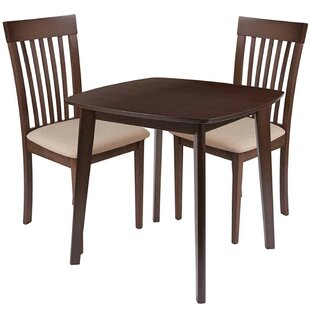 Skidmore 3 Piece Solid Wood Dining Set by Winston Porter
