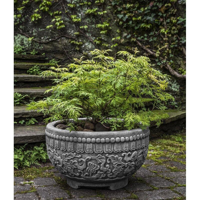 Bloomsbury Market Jaipur Cast Stone Pot Planter Wayfair