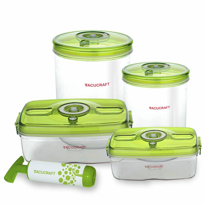 Vacucraft Versatile Vacuum 5 Container Food Storage Set Reviews
