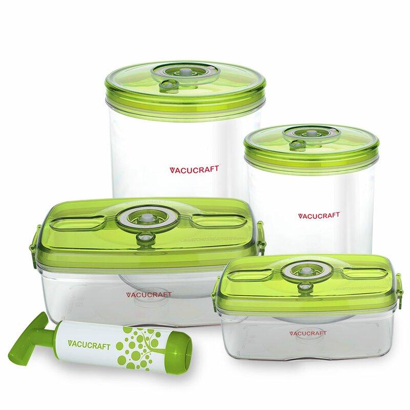 Vacucraft Versatile Vacuum 5 Container Food Storage Set Reviews