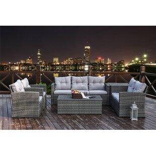 Review Bohm 7 Seater Rattan Sofa Set