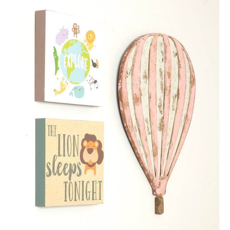 Harriet Bee Hot Air Balloon Wall Décor Wayfair