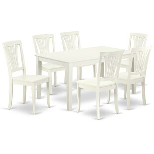 Lafever 7 Piece Solid Wood Dining Set