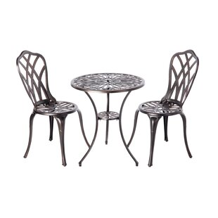 PatioSense Theon 3 Piece Bistro Set