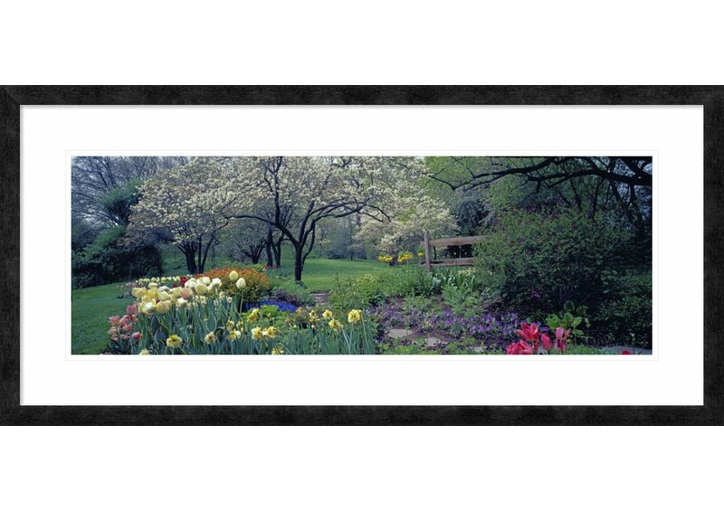 Global Gallery Country Garden Old Westbury Gardens Long Island By Richard Berenholtz Framed Photographic Print Wayfair