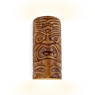 Riceboro Tiki Up and Down Light Outdoor Sconce