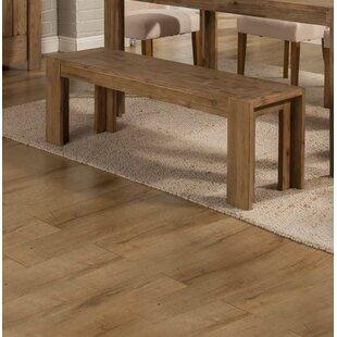 Gracie Oaks Finnigan Wood Bench