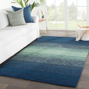 Calanthe Hand-Hooked Blue/Green Indoor/Outdoor Area Rug