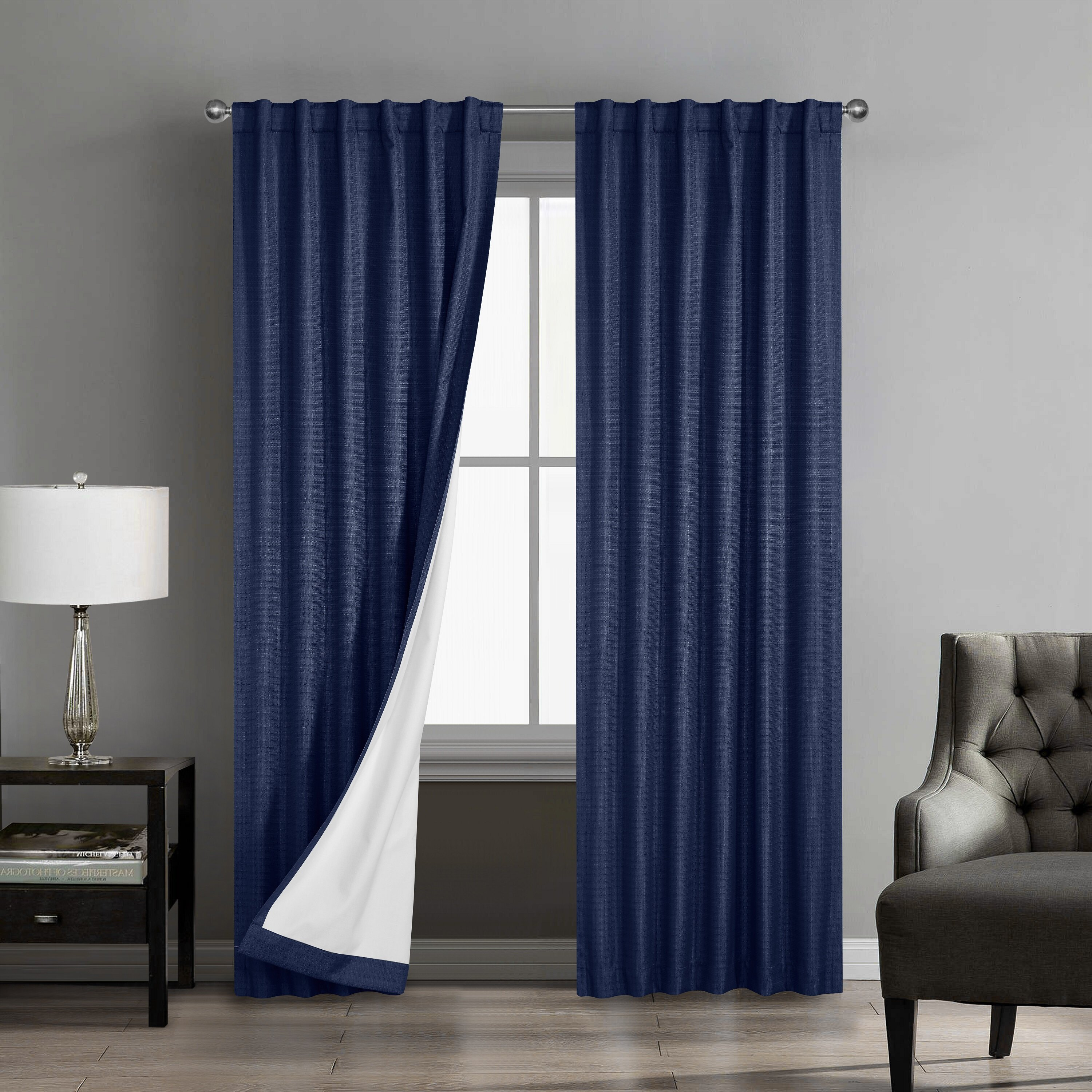 Charlton Home Rotraut Solid Room Darkening Thermal Rod Pocket Curtain Panels Reviews Wayfair