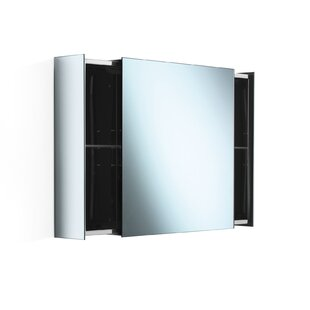 Reviews Linea Pika 24.4 x 22 Surface Mount Medicine Cabinet By WS Bath Collections