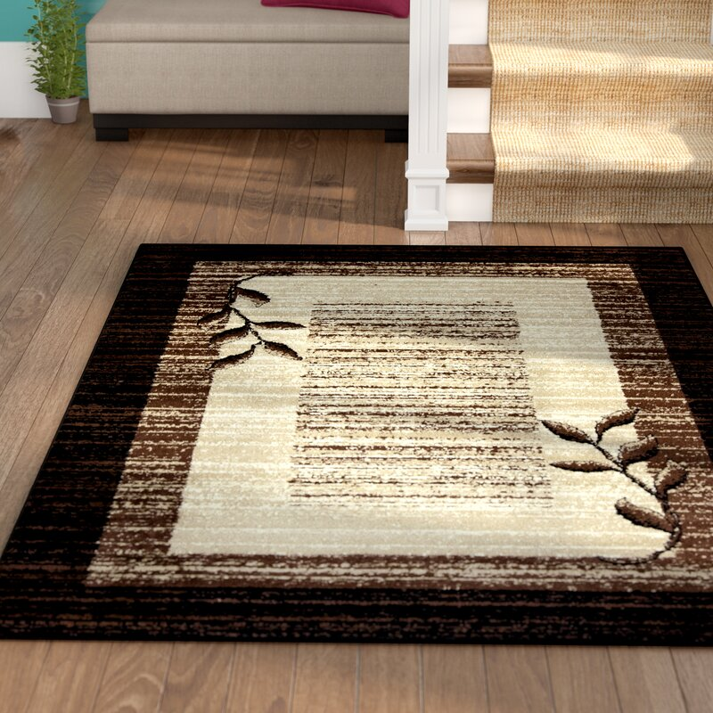 Winston Porter Wilda Black Brown Beige Area Rug Reviews Wayfair